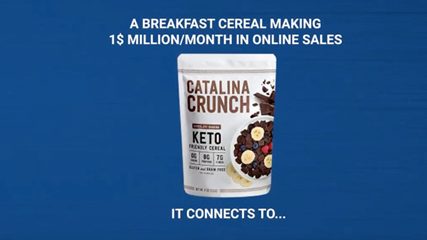 Catalina Crunch shows that multiple benefits on one product now works much better than in the past